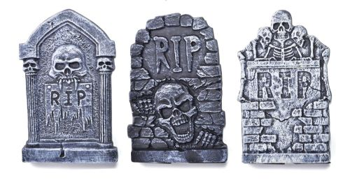 "Halloween Tombstone 13"" (1 of 3 Assorted) Trick Or Treat Fancy Dress Party"